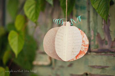 A close up of a pumpkin ornament