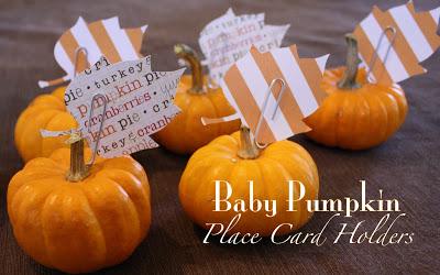 Social media image of Baby Pumpkin Place Card Holder