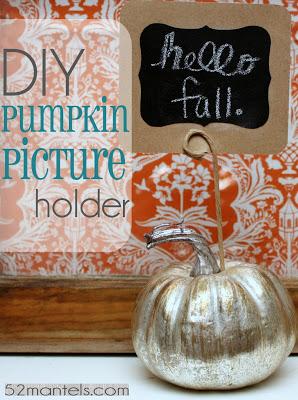 Social media image of DIY pumpkin picture holder