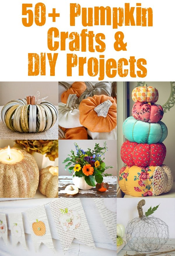 Social media image of 50+ Pumpkin Crafts and DIY Projects