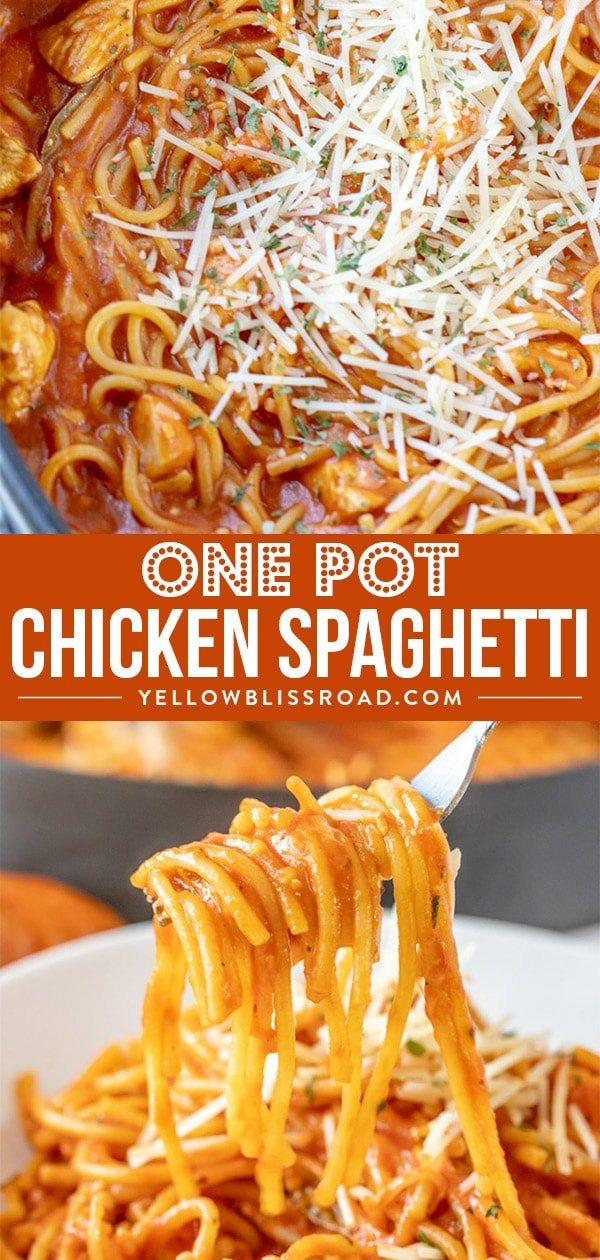 One Pot Chicken Spaghetti