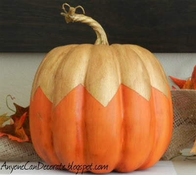 Pumpkin with gold painting on top