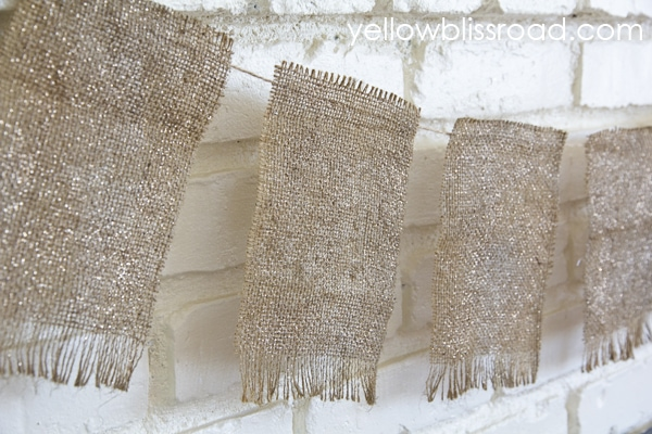 A rustic fall burlap banner with just a hint of sparkle. A perfect balance of rustic and glam!