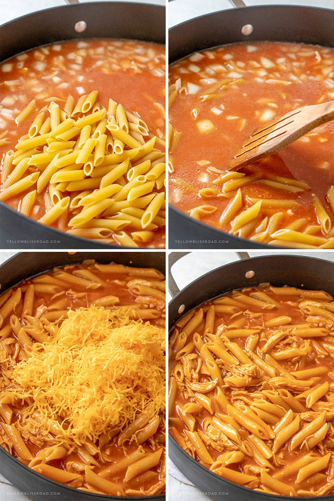 How to make cheesy chicken pasta sauce.