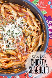 Social media image of One Pot Chicken Spaghetti