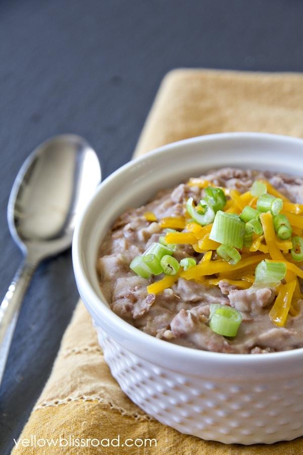 easy homemade refried beans second
