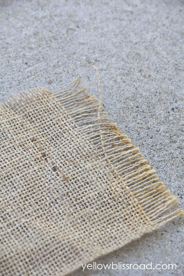 A close up of a piece of burlap