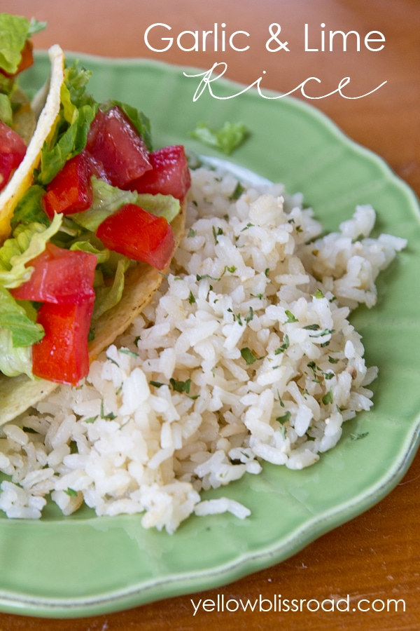 A plate of rice and tacos