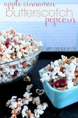 Social media image of Apple Cinnamon Butterscotch Popcorn