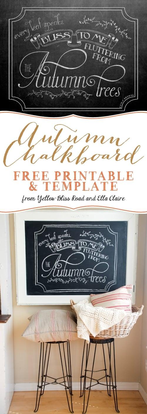 Social media image of Autumn Chalkboard printable