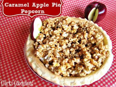 Social media image of Caramel Apple Pie Popcorn