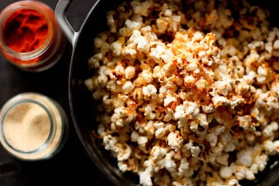 A pot of popcorn