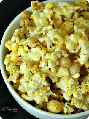 Close up of popcorn in a bowl
