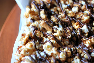 A close up of Popcorn and Chocolate
