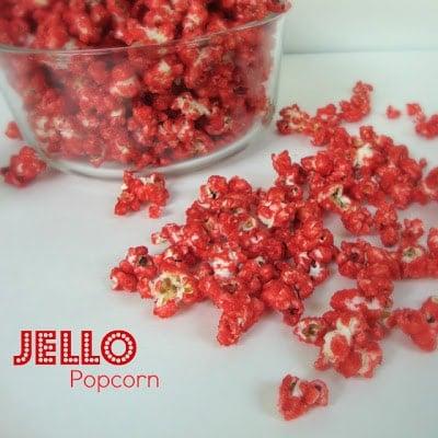 Social media image of red Jello Popcorn