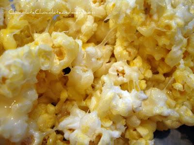 A close up of popcorn