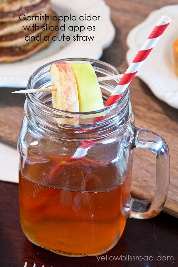 A cup of apple cider