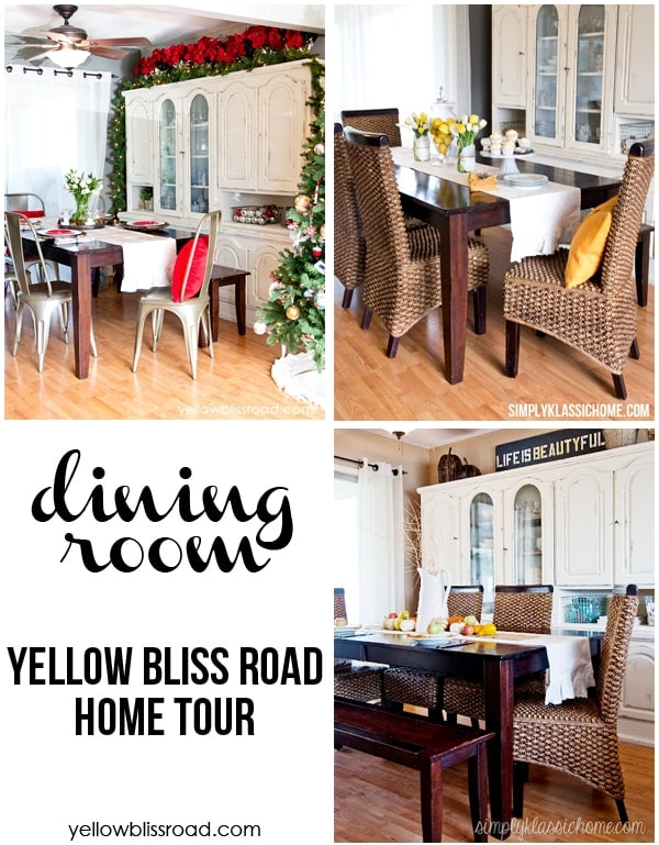 Seasonal Dining Room Home Tour from Yellow Bliss Road