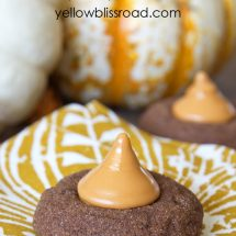 Social media image of Double Chocolate Pumpkin Spice Cookies
