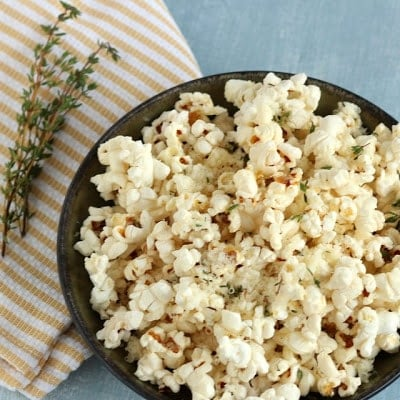 A plate of popcorn