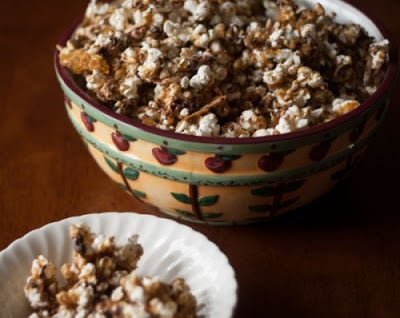 A bowl of Toffee popcorn