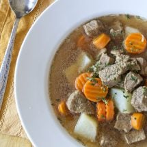 Smoked Tri Tip Soup with Veggies