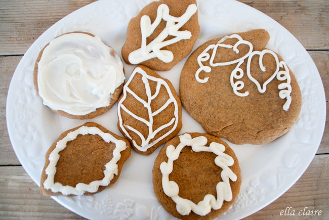 Christmas cookies on a white plate