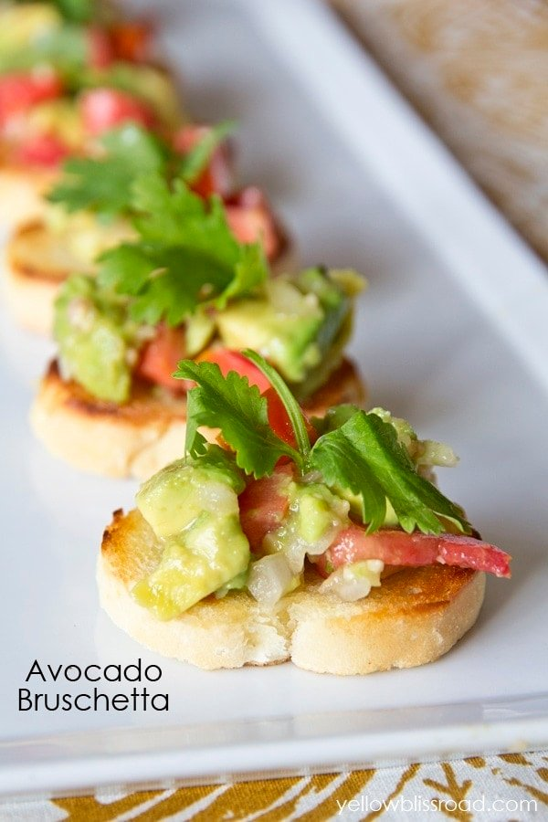 Avocado Bruschetta Title