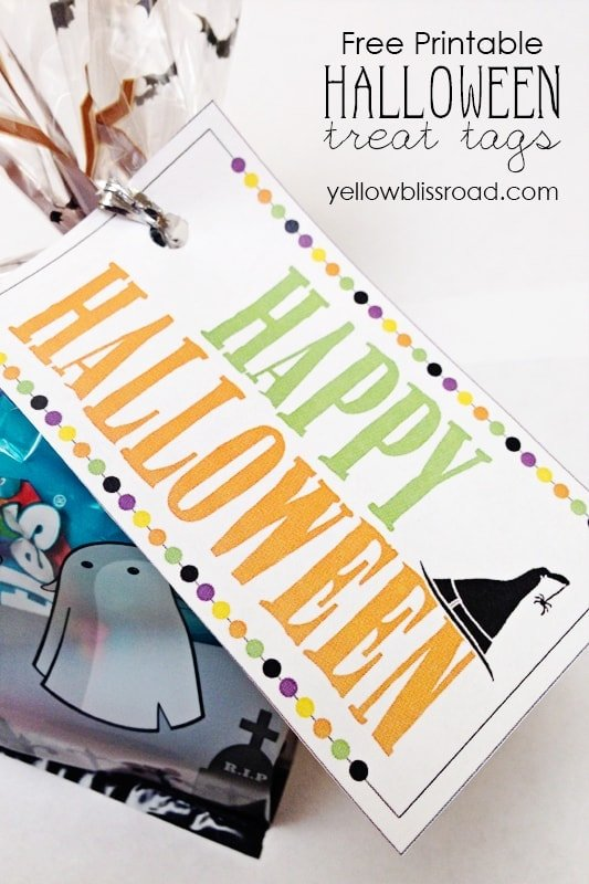 free printable halloween treat tags