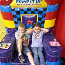 A Princess and Avengers Birthday Party at Pump It Up {and a GIVEAWAY}