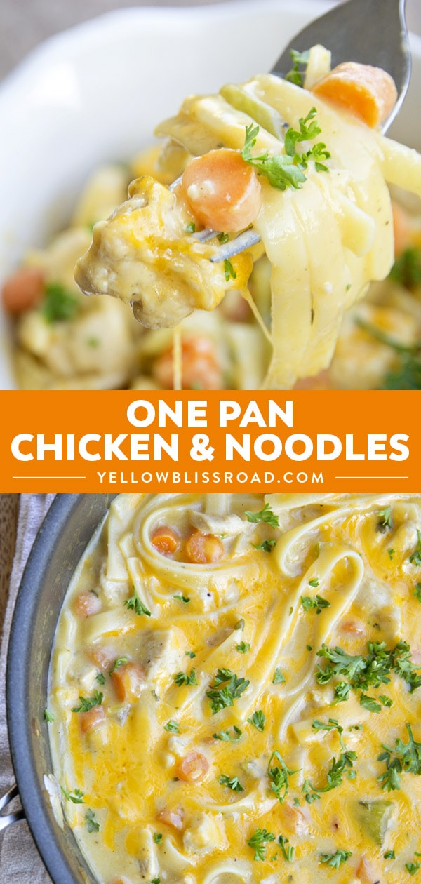 Social media image of One Pan Chicken and Noodles