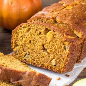 Loaf of Pumpkin Apple Bread