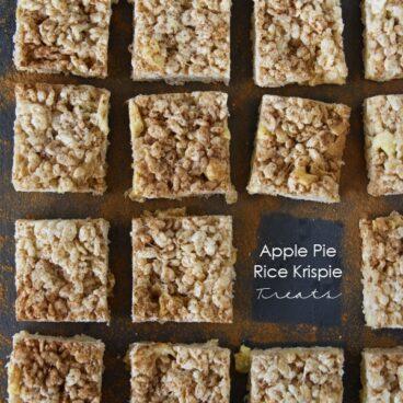 Social media image of Apple Pie Rice Krispies