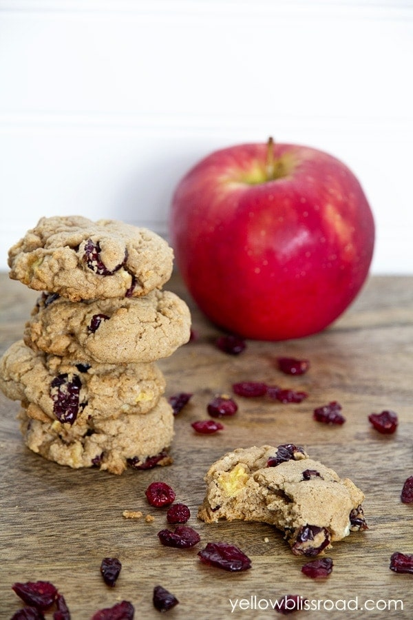 Spice Cake Mix Cookies With Apples
