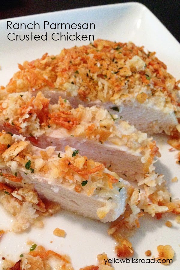 Baked Ranch Parmesan Crusted Chicken - delicious easy and perfect any night of the week.