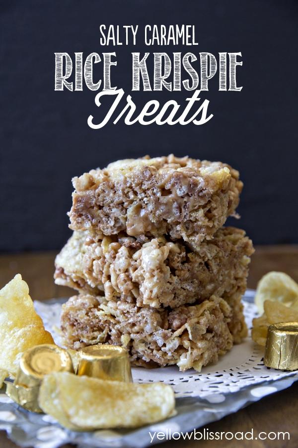 Social media image of Salty Caramel Rice Krispie Treats