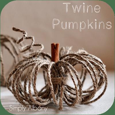 Social media image of Twine Pumpkins