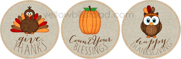 photograph relating to Free Printable Thanksgiving Tags identified as No cost Printables for Thanksgiving - Yellow Bliss Street