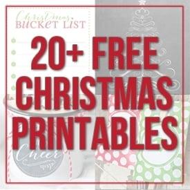 20+ christmas printables