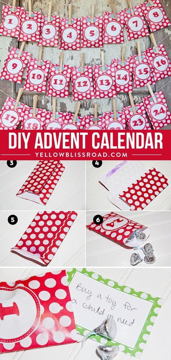 photograph relating to Free Printable Advent Calendar Template identify Do-it-yourself Arrival Calendar Package (Absolutely free Printable with Video game Playing cards)