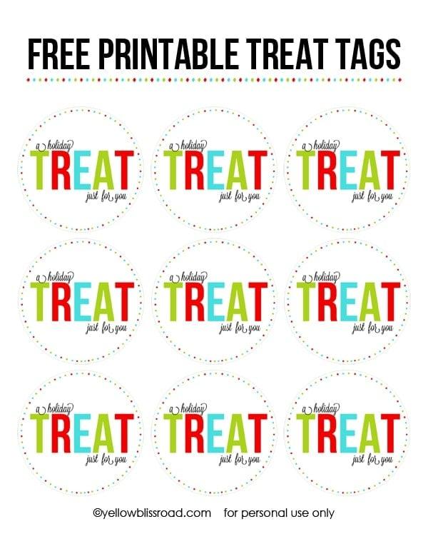 FREE PRINTABLE TREAT TAGS