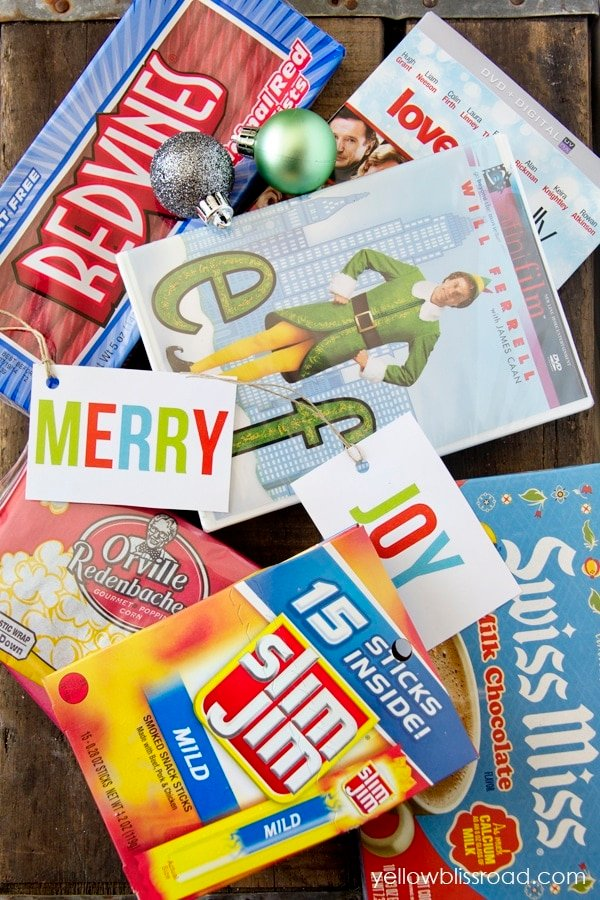 His and Hers Gift Basket Idea with Free Printable Tags
