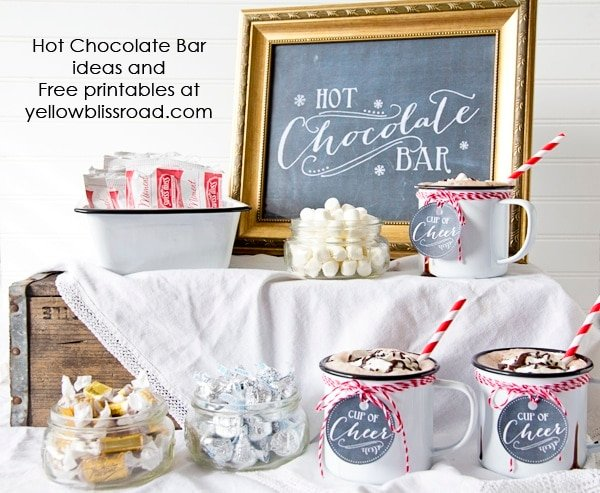 Hot Chocolate Bar with Free Chalkboard Printables 2