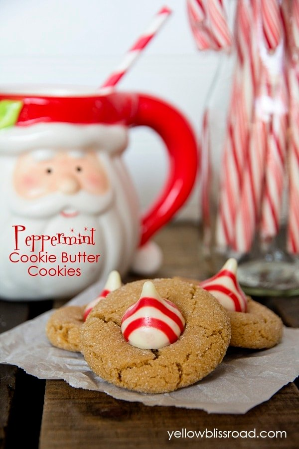 Peppermint Cookie Butter Cookies