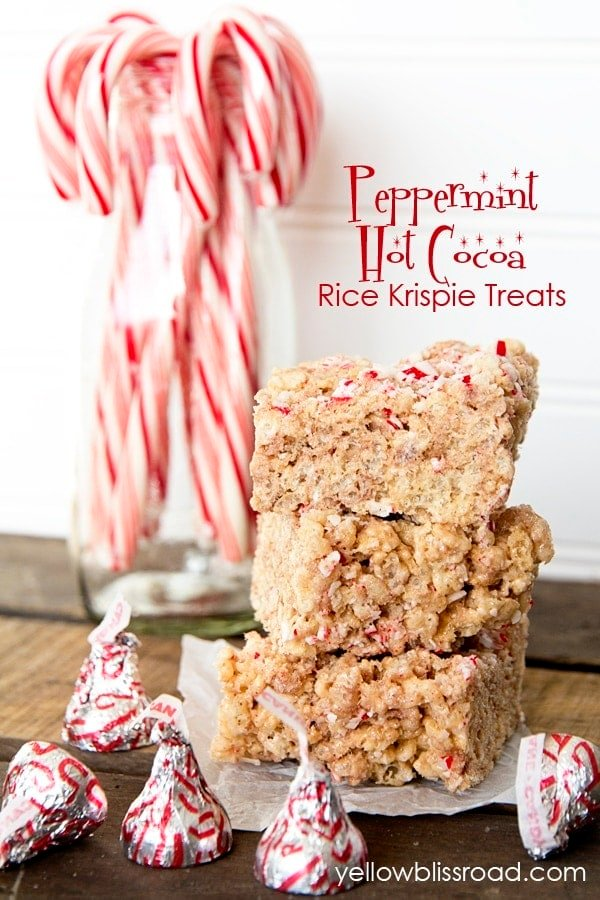 Peppermint Hot Cocoa Rice Krispie Treats