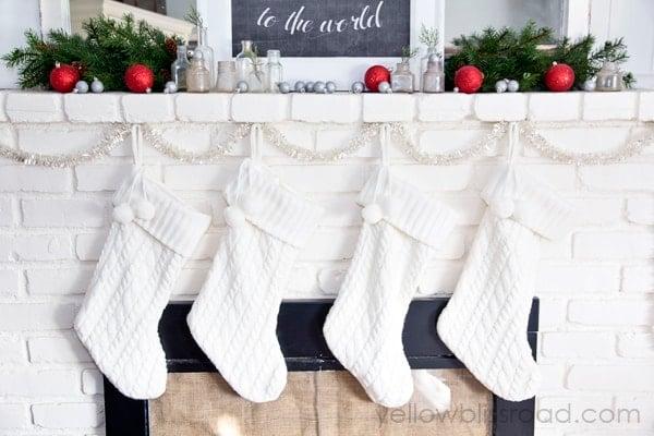 Simple Christmas Mantel 2
