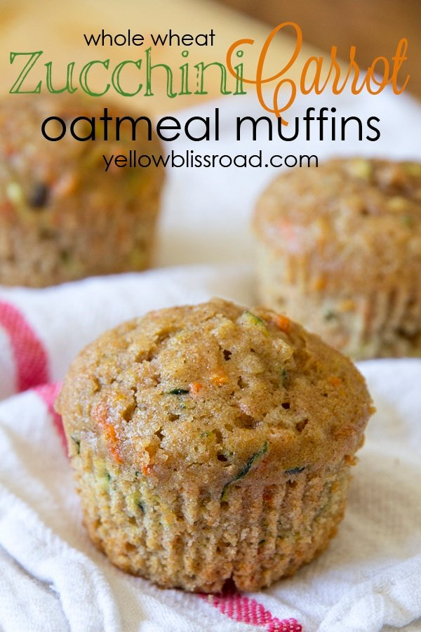 Social media image of Zucchini Carrot Oatmeal Muffins