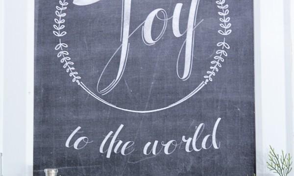Free Christmas Printable ~ Joy to the World