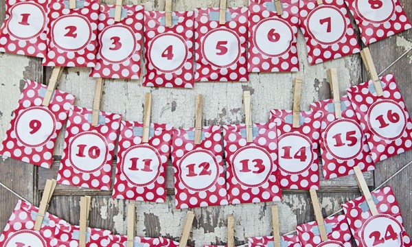 Free Printable Advent Calendar Treat Bag Kit