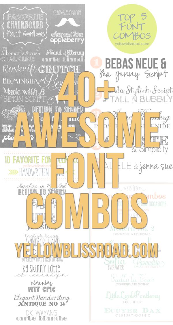 50+ Beautiful Font Combinations
